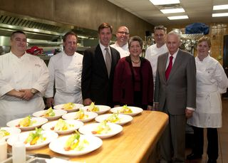 Secretary Napolitano in Marriott Test Kitchen