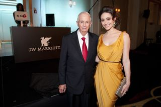Bill Marriott and Emmy Rossum at JW Marriott Chicago Opening