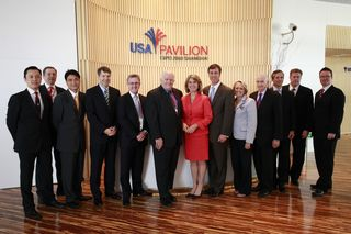 At the USA Pavilion at the 2010 World Expo in Shanghai