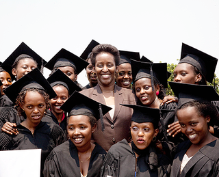 Rwanda First Lady with Akilah Graduates