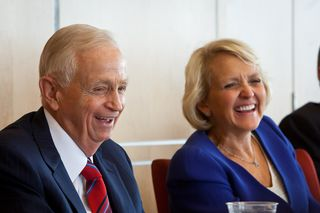 Bill Marriott and Debbie Harrison at Cornell2