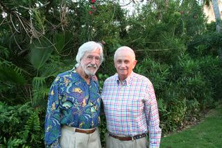 Jean-Michel Cousteau and Bill Marriott in St. Thomas