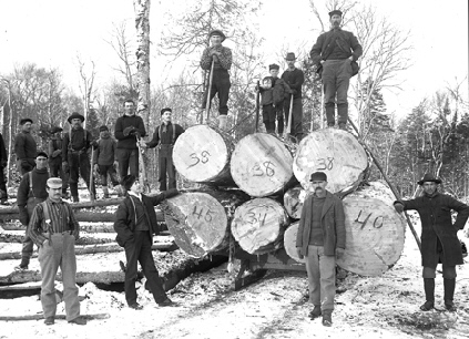 Black And White Photos Show The Tough Lives Of Lumberjacks In